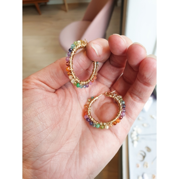 25mm Hoops Regnbue